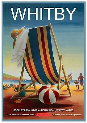 Whitby, North Yorkshire Railway Poster, England.