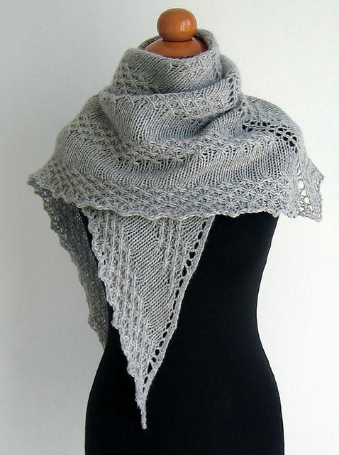 Kokino's Grey Shawl. Lovely, need to knit