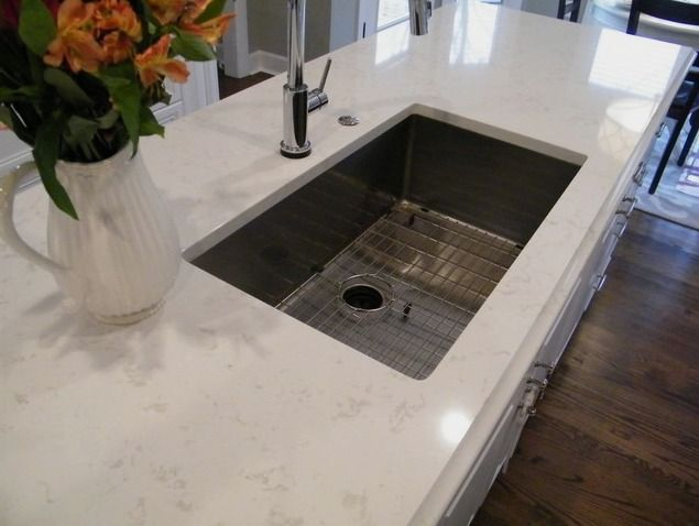 Delightful Gives An Idea Of What The Metallic Grey Silgranit Sink Looks Like In The  White Counter