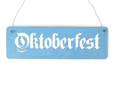 Shabby Vintage Schild Türschild OKTOBERFEST...