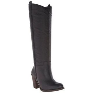 Shop for Lucky Brand Women's Ebbie Black Leather Stacked Heel Pull-on Knee-high Western Boots. Get free shipping at Overstock.com - Your Online Shoes Outlet Store! Get 5% in rewards with Club O!