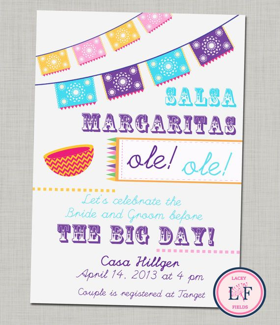 Fiesta Bridal Shower Invitation Printable By Laceyfields 1000