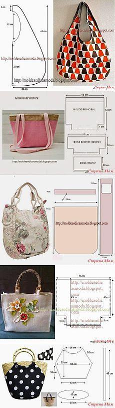 Разные сумки с выкройками...♥ Deniz ♥