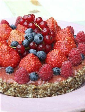 Zomerfruit taart