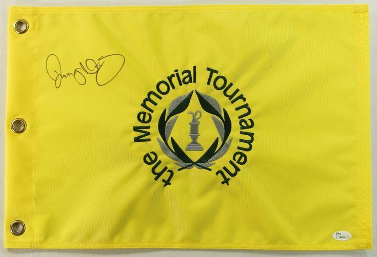 Rory Mcllroy Signed Memorial Tournament Golf Flag (JSA COA)