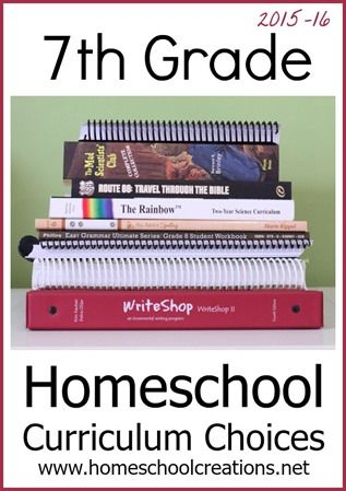 7th grade homeschool curriculum choices - a peek at what we're using this year.