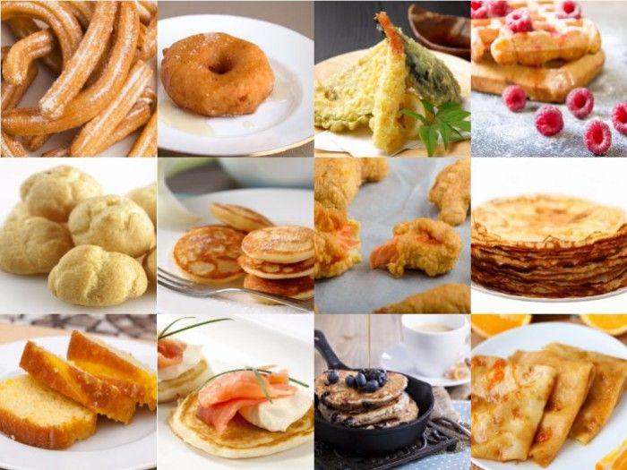 Onwijs handig overzicht met de meest gebruikte beslagsoorten, zo heb je altijd een recept bij de hand voor pannenkoekenbeslag, poffertjesbeslag, cakebeslag, churros beslag of bierbeslag