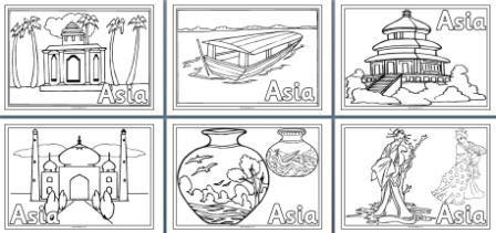 kleurplaten Azie