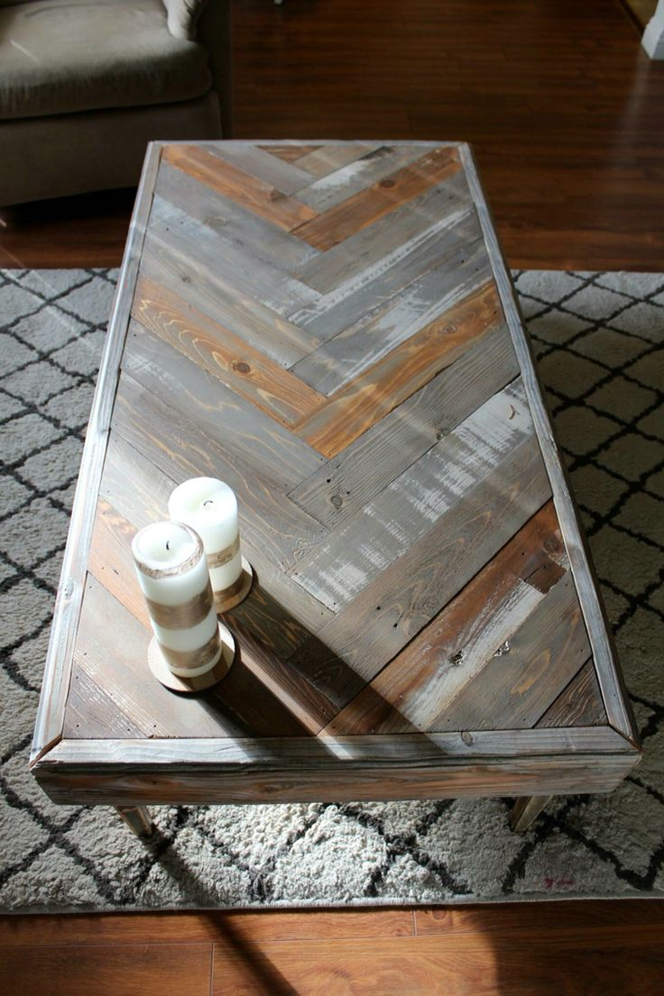 diy furniture refinishing projects. Reclaimed Wood Herringbone Coffee Table. Refinished FurnitureFurniture PlansFurniture ProjectsDiy Diy Furniture Refinishing Projects