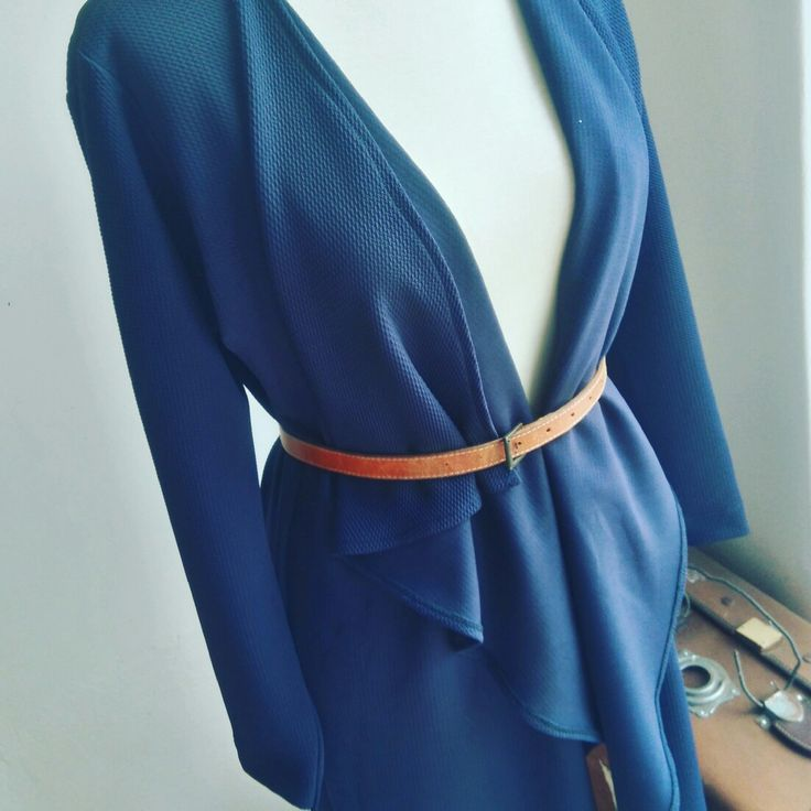 Navy Waterfall Cardi  Follow us on Fb and instagram  nouf clothing
