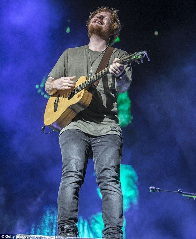 Working up a sweat! Ed Sheeran gave it everything he had as he kicked off his Australian t...