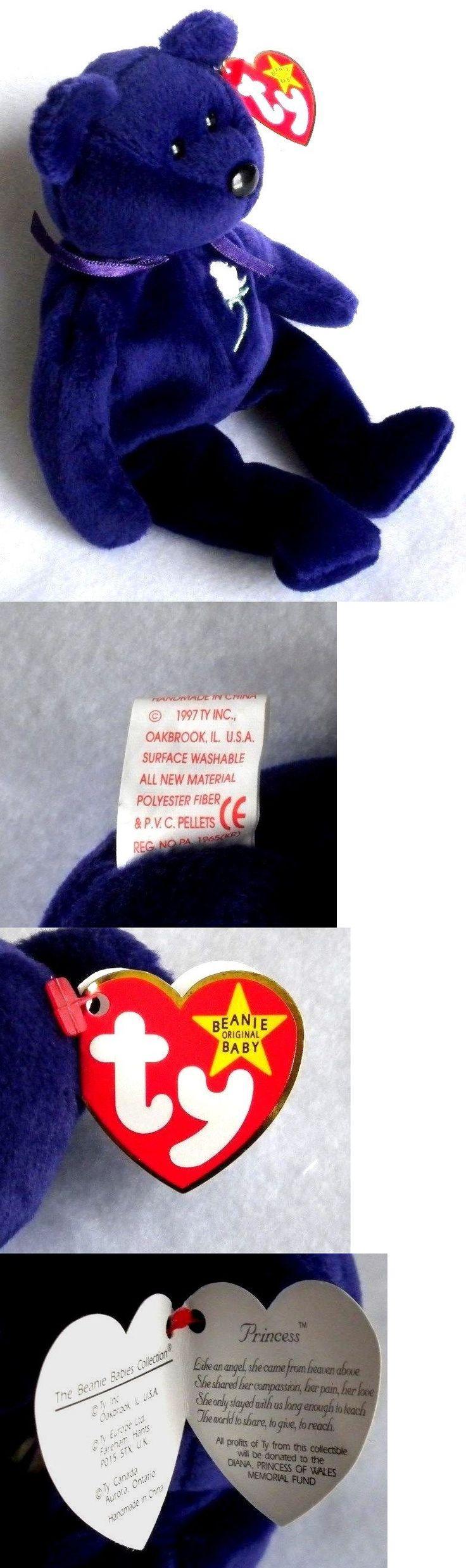 Basket Beanies 158681: Plush Royal Purple Princess Diana Beanie Baby Bear Pvc Pellets 1St Edition Mint -> BUY IT NOW ONLY: $2000 on eBay!