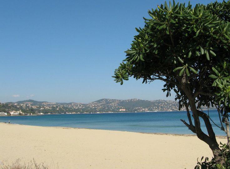 La plage de La Nartelle à Sainte-Maxime (Var)