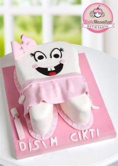 Prensesinizin ilk dişini güzel pasta ile kutlayın. Ürün Kodu: 10 www.tatlımasallar.com