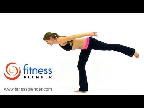 at home total body barre workout  15 minute barre video