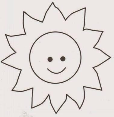 Resultado de imagem para molde de sol para imprimir
