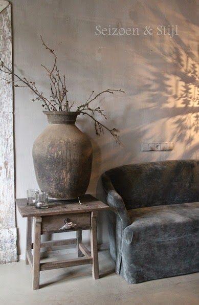 old rustic vase