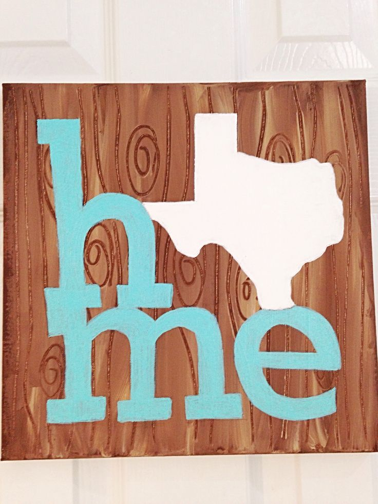 For all of you Texas lovers!! This cute hand painted Texas home decor wall art is sure to bring a smile to your face Each canvas will vary slightly in look as these are all hand painted. Mixed media h