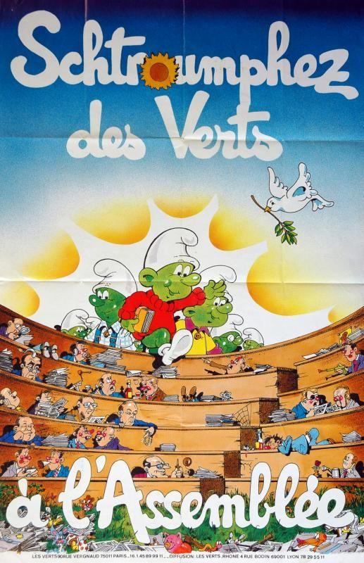 Affiche politique du parti Les Verts/  ©Musée du Vivant - AgroParisTech