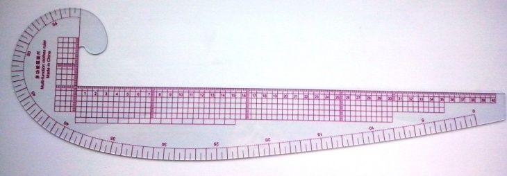 Лекало для построения кривых линий (Diy+шаблоны)