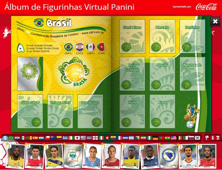 Álbum virtual de figurinhas Copa Fifa 2014-Panini