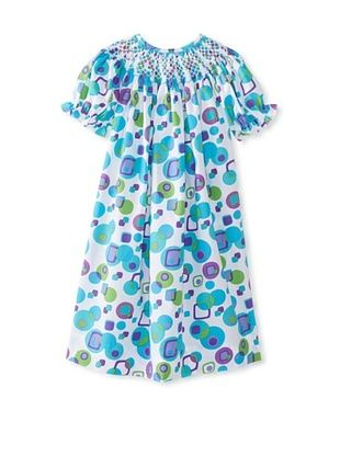 71% OFF Vive La Fete Kid's Geometric Smocked Dress (Multi)