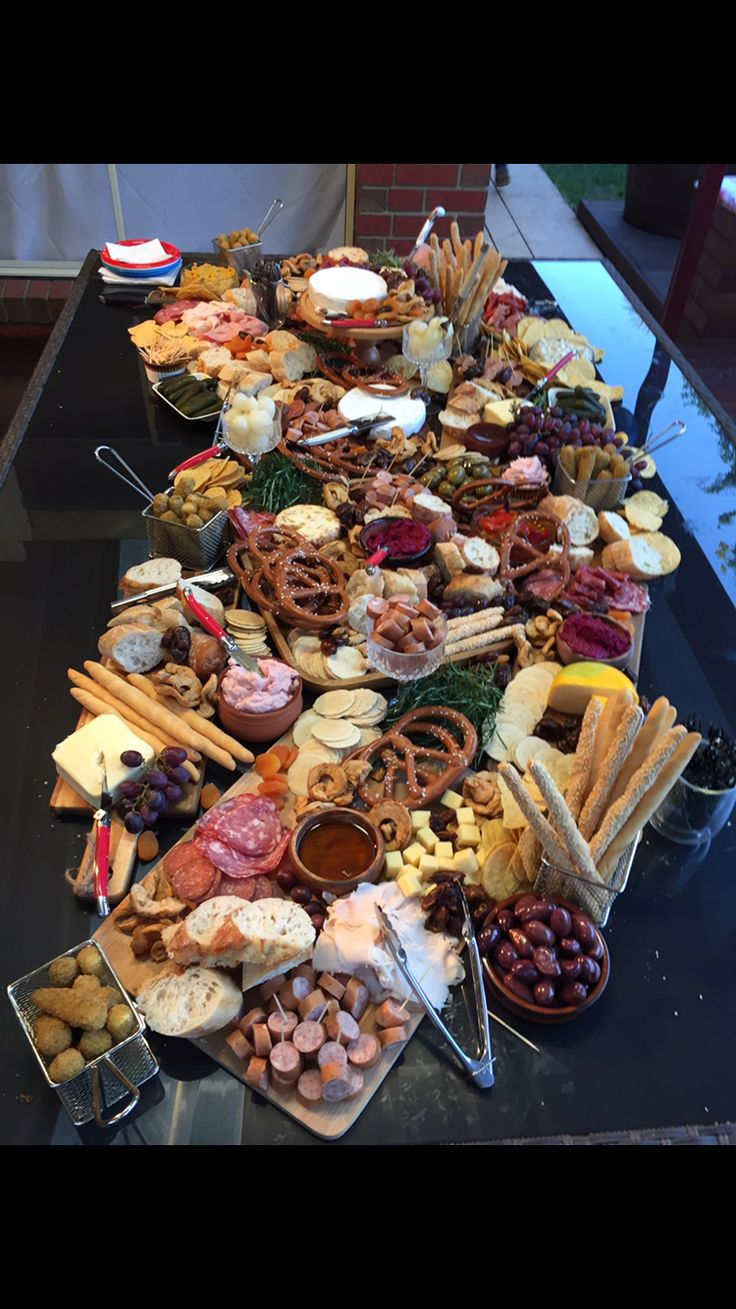 Antipasto grazing table done to perfection
