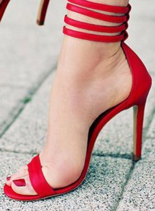 729aec815e9 We aren t in for anything Beautiful red shoes  red  shoe