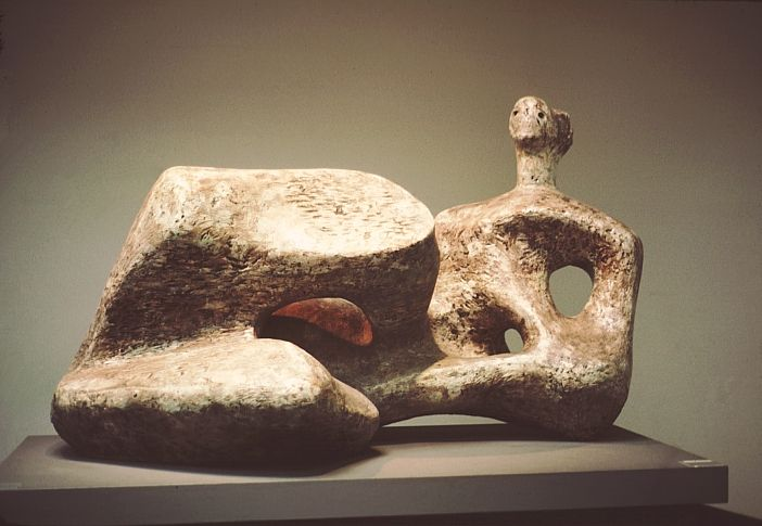 Henry Moore, Working Model for Reclining Figure, UNESCO, 1957, plaster, Art Gallery of Ontario, Toronto.