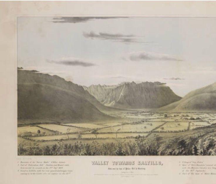 Litografías de la Captura de Monterrey por el Ejército Norteamericano,en su paso por Saltillo (La Batalla de Monterrey 1846) de La Colección Digital SMU, Librería Central Universitaria (USA)