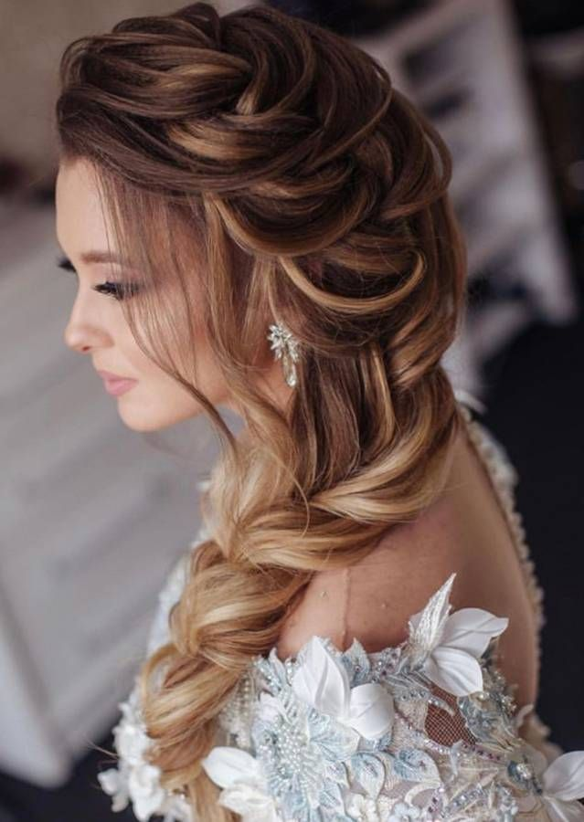 New Hairstyles For Indian Wedding Function Mehdi Haldi Sangeet Indian Wedding Hairstyles Braided Hairstyles For Wedding Wedding Hairstyles For Long Hair