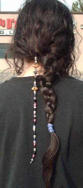 How to make your own beaded hair clips
