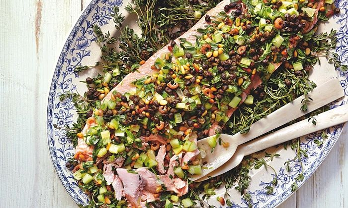 Yotam Ottolenghi's dressed side of salmon