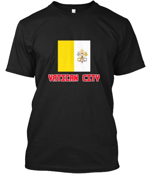 Vatican City Flag Design Black T-Shirt Front - This is the perfect gift for someone who loves Vatican City. Thank you for visiting my page (Related terms: I Heart Vatican City,Vatican City,Vatican City,Vatican City Travel,I Love My Country,Vatican City Fl #Vatican City, #Vatican Cityshirts...)