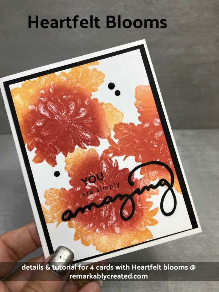 We are getting closer to Sale-a-bration 2018 – Stampin'UP!'s biggest sales event of the year. I love all the amazing selections that can be selected with purchases during Sale-a-bration and this one is no exception. This stamp set Heartfelt Blooms has a tiny *asterisk next to in the catalog drawing our attention the fact that …