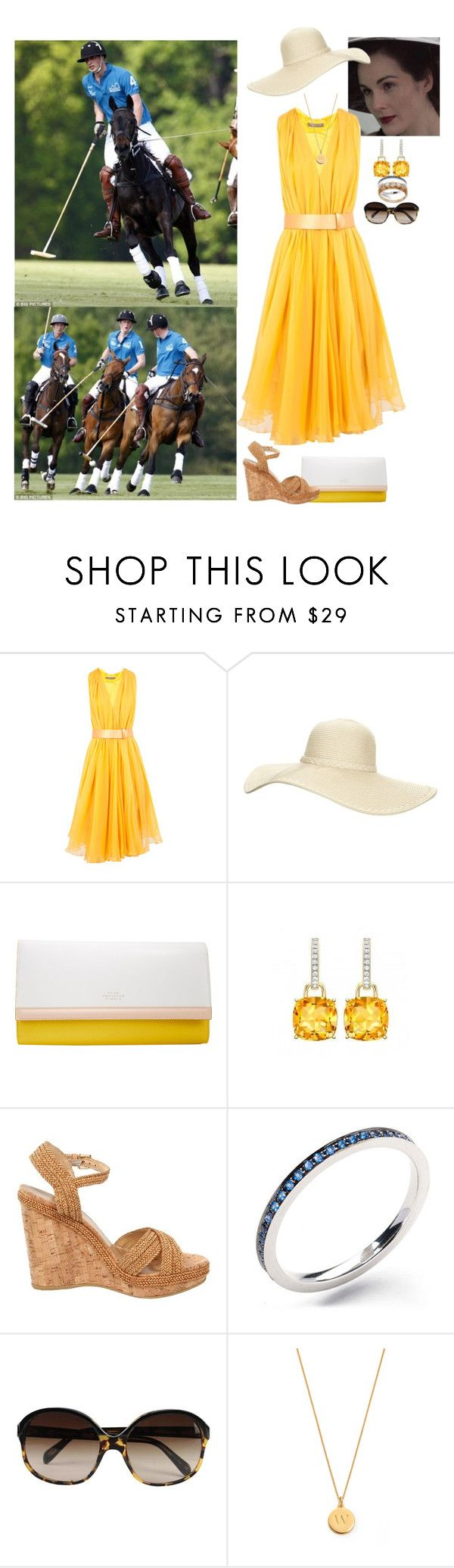 """""""Flashback Friday: Attending a Polo match played by William & Harry to Raise Money for Centrepoint"""" by madeleine-duchessofcam ❤ liked on Polyvore featuring Alexander McQueen, Reger by Janet Reger, Smythson, Stuart Weitzman, Oliver Peoples, Kate Spade and flashbackfriday"""