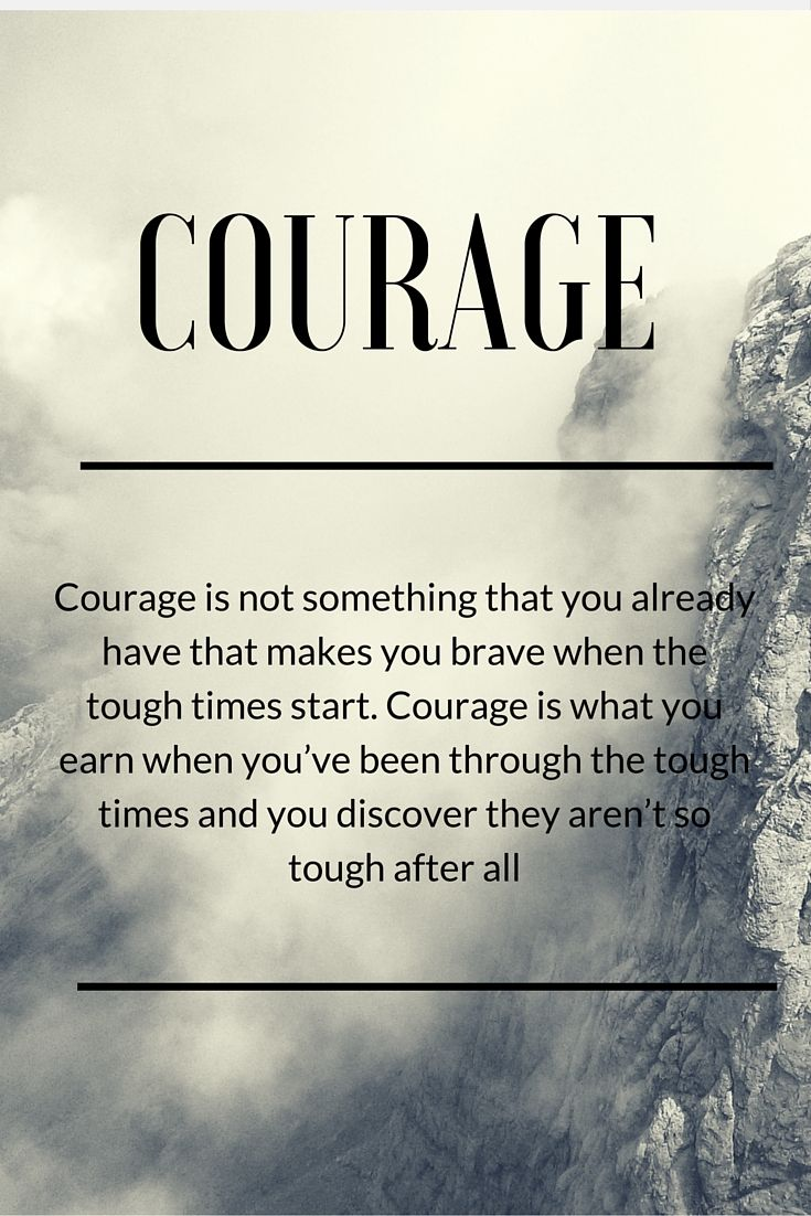 """""""Courage is what you earn when you've been through the tough times and you discover they aren't so tough after all"""" - Malcolm Gladwell  #ThursdayMootivation #NeverGiveUp  Read my review of David and Goliath: Underdogs, misfits and the art of battling giants and find out why I recommend this book."""