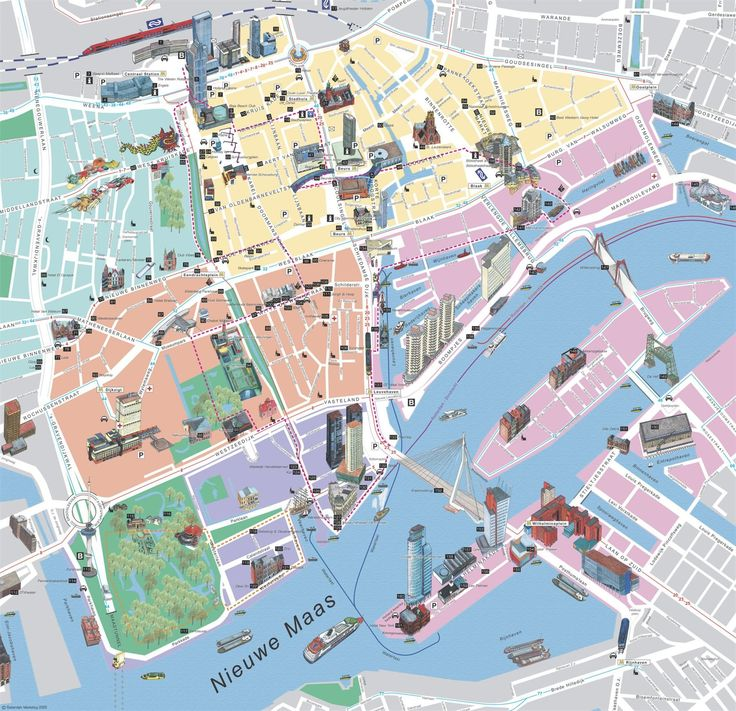 Mappa di Rotterdam in Olanda