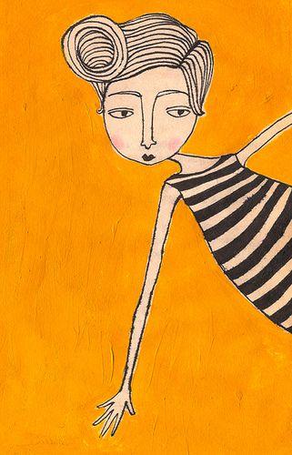 Jordan Grace - graphic girl #whimsical #illustration