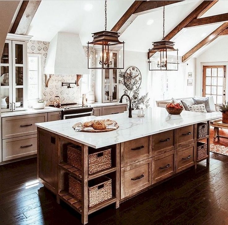 91+ Amazing Farmhouse Kitchen Ideas Budget