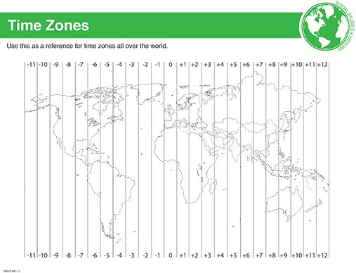 {Zone Worksheets Tecnologialinstante – Time Zone Worksheet