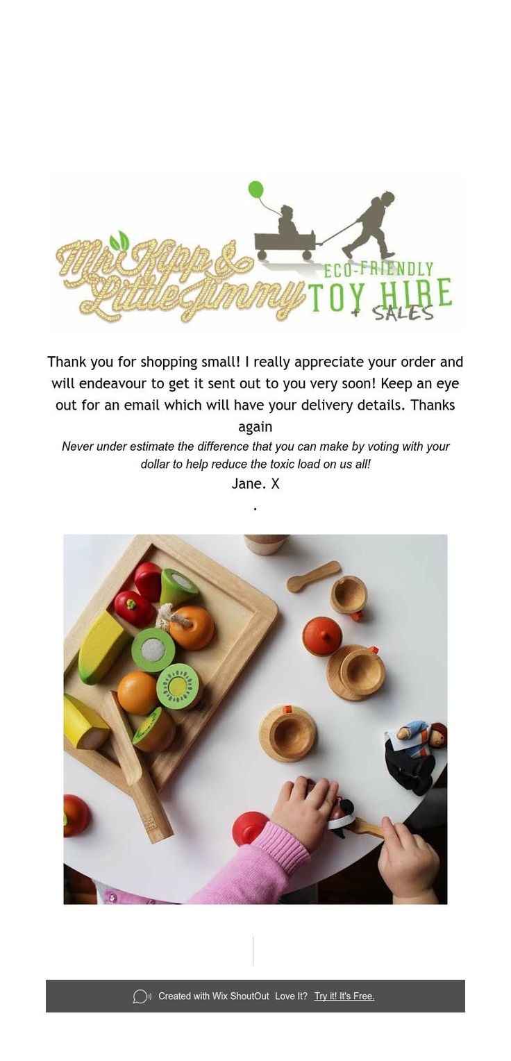 Thank You for Shopping small!