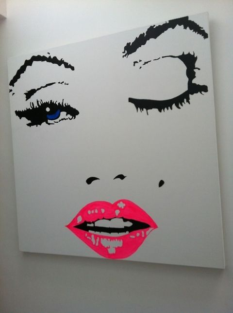 canvas: Wall Art, Marilyn Monroe, Houses, Idea, Pink Lips, Red Lips, Canvas, Paintings, Marilynmonro