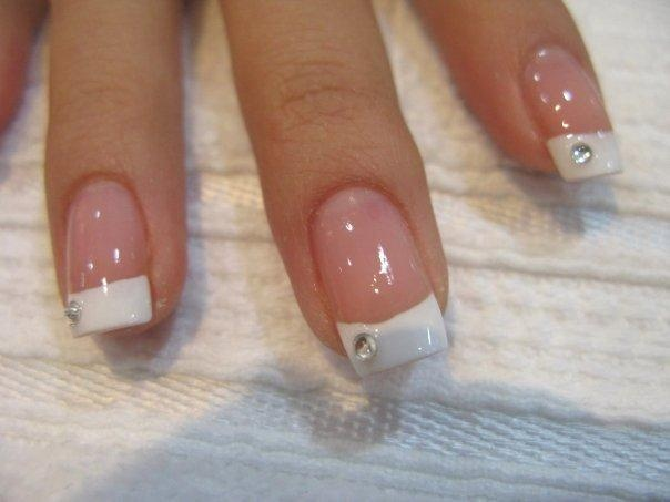 Gold and White Wedding. Manicure, Pedicure, Nails. Bride nails...