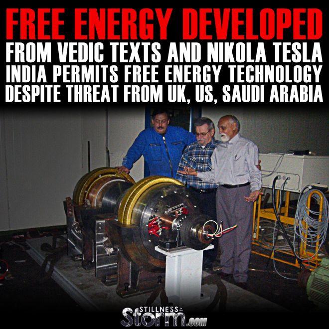 tesla-free-energy-developed-from-vedic-texts-and-nikola-tesla-india-permits-free-energy-technology-despite-threat-from-uk-us-saudi
