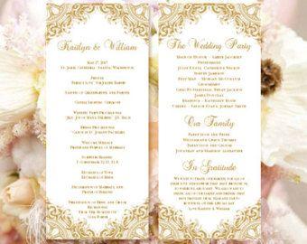 Sample Wedding Programs Templates Free