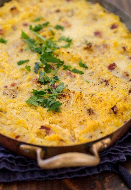 Recipe: Baked Spaghetti Squash Carbonara — Recipes from The Kitchn | The Kitchn
