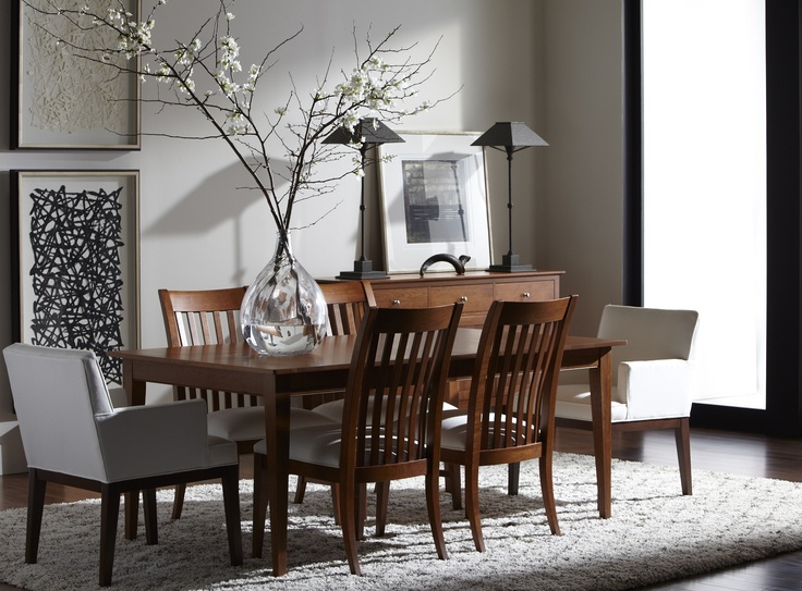 The Rowan Dining Table With Ingrida Armchairs Is Oh So Shaker Chic Ethan Allen Renaissance At Colony Park