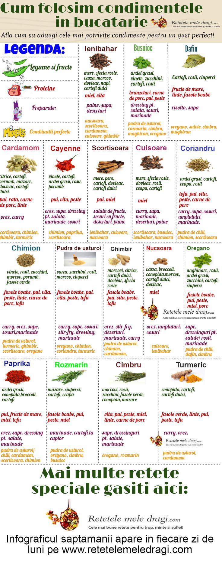 Cum folosim condimentele in bucatarie