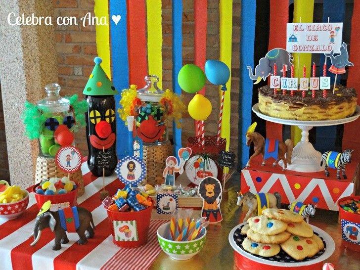 64 best images about fiestas infantiles de circo on - Mesa dulce infantil ...